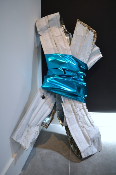 Untitled (trailer rubble with turquoise lame)