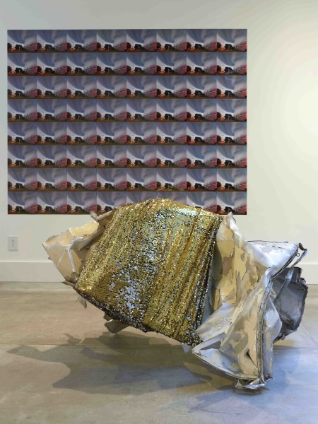 Untitled(Trailer Rubble with Gold Sequins)_We Are In the Tornado
